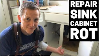 Rotted Sink Cabinet Floor--How To Fix