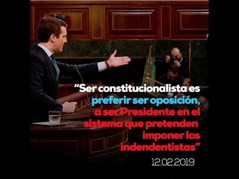 Ser constitucionalista es preferir estar en la oposición, en lugar de ser Presidente en el sistema que pretenden imponer los independentistas.