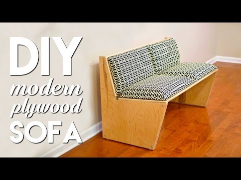 DIY Modern Sofa | How To Build With 1 Sheet of Plywood – Woodworking