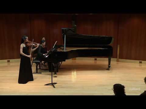 Performance of the Brahms E-flat Viola Sonata, movement 1, for a studio recital.