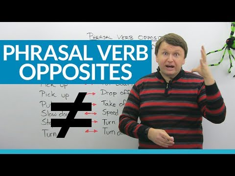 Phrasal Verb Opposites in English