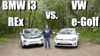 Volkswagen e-Golf vs. BMW i3 REx (ENG) - First Drive and Comparison