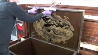 Mazarin Chest, Conservation; Securing the Lid