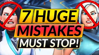 7 MASSIVE Valorant Mistakes YOU STILL MAKE - I Wish I'd Known This - Pro Tips Guide
