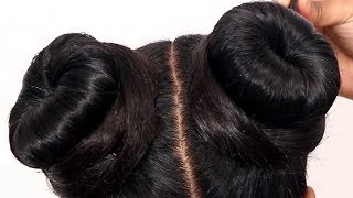 Double BUN Hairstyles For Kids || Beautiful Hairstyles For Parties And Occasions || She Fashions