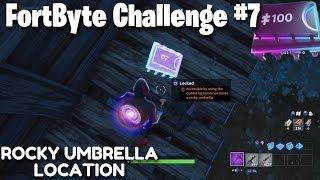 Fortnite FortByte Challenge 7 Guide   Rocky Umbrella Location (Fortnite Battle Royale)