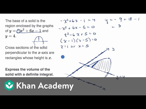Volume with cross sections: squares and rectangles (no graph