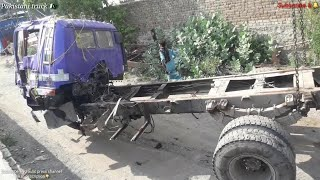 Major accident repair and paint work on a Hino tipper truck