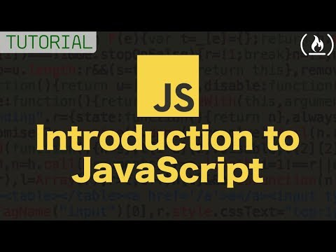 Intro to Javascript – FULL COURSE (tutorial)