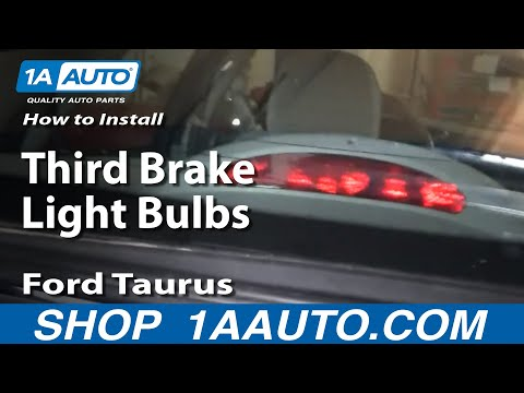 How To Replace Third Brake Light Bulbs 96-07 Ford Taurus