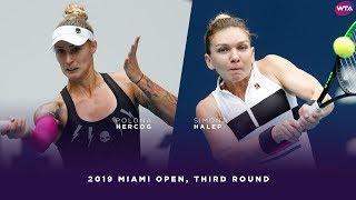 Polona Hercog vs. Simona Halep   2019 Miami Open Third Round   WTA Highlights