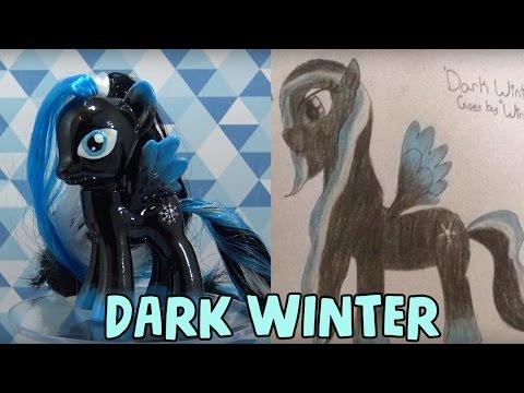 DARK WINTER PONY - Fan Custom Friday #17 || Custom OC Pony Giveaway #FCF by MandaPanda Toy Collector