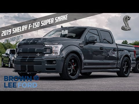 """FIRST LOOK 2019 Shelby Super Snake F-150 755 Horsepower   LEAD FOOT   FOR SALE   22"""" Black Wheels"""