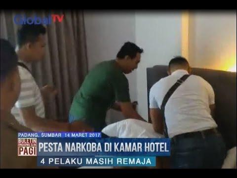 Polisi Gerebek Kamar Hotel yang Digunakan Pesta Sabu di Padang, Sumbar - BIP 15/03