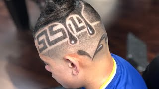 JAY TEE THE BARBER SHOWS HOW TO DO A VERSACE DRIP HAIR DESIGN