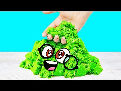 EASY KINETIC SAND RECIPE by Slime Sam