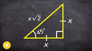 Why Special Right Triangles Help Use Evaluate Trig Functions