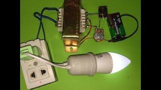How to make Simple Inverter 9v or 12v to 220v using Single transistor D718 easy -idea Save Money