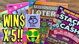 🤑 WIN$ X 5!! 💰 $75/TICKETS! 🌟 TEXAS LOTTERY Scratch Off Tickets