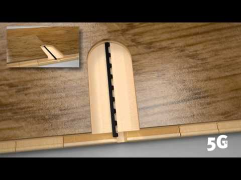 5G-S locking technology installation principle with 14mm wood