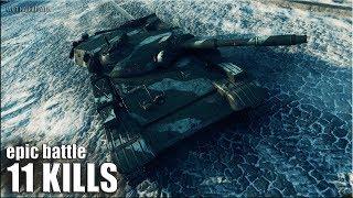 Мега Эпик Нагиб на Т-100 ЛТ 🌟🌟🌟 World of Tanks лучший бой на лт 10 уровня