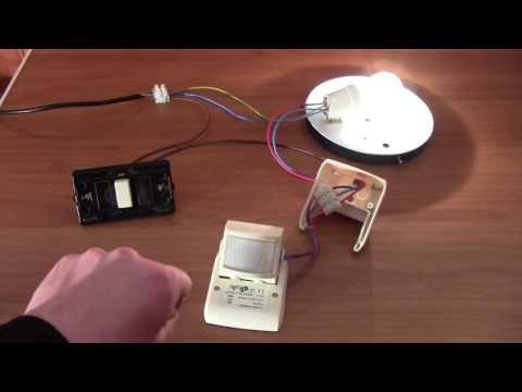 Cablaggio e funzionamento di un sensore di movimento a raggi infrarossi