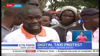 Digital taxi operators go on strike demanding higher rates
