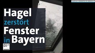 Hagelkörner Schlagen Dachfenster Ein – Unwetter In Schondorf Am Ammersee | BR24