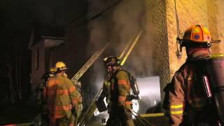 2nd Alarm building fire in Catasauqua, PA  01/21/17