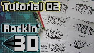 Rockin 3D! - Graffiti Letters - Tutorial 02