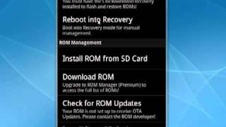 Using ROM Manager For Droid