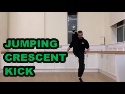 Learn Kickboxing Online - Jumping Crescent Kick - Kickboxing Kicks