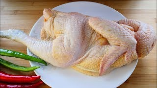 A whole chicken is the most enjoyable to eat like this. No water, no oil, fresh and juicy.