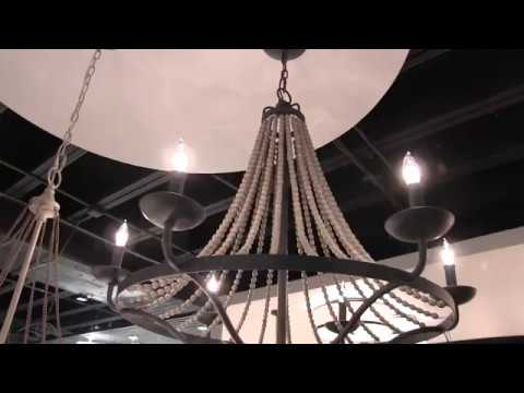 Video for Nori Dark Weathered Zinc and Driftwood Grey Six-Light Chandelier