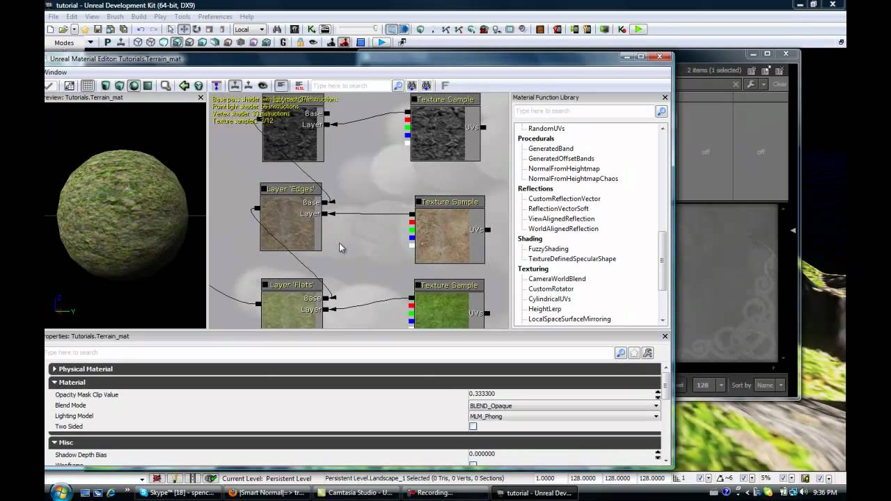 UDK Landscape Tutorials Video 3  Applying Materials