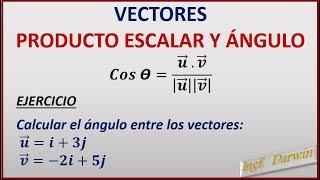 PRODUCTO ESCALAR Y ÁNGULO ENTRE VECTORES / CLASE 1