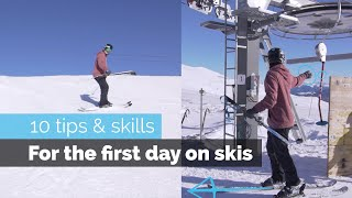 HOW TO SKI | 10 BEGINNER SKILLS FOR THE FIRST DAY SKIING