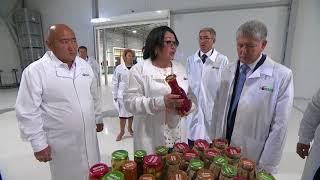 А. Атамбаев посетил завод по производству консервированных фруктов и овощей