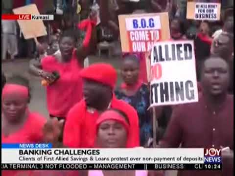 Clients of First Allied Savings & Loans Protest - News Desk on JoyNews (2-10-18)
