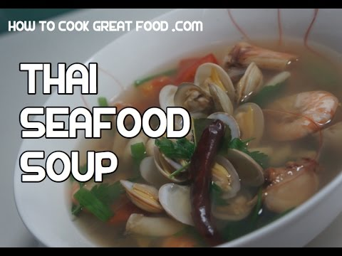 Thai Seafood Soup Recipe – Tom Yum Video
