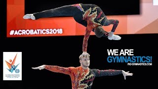 2018 Acrobatic Worlds, Antwerp (BEL) - Highlights MEN'S and WOMEN'S PAIR FINALS - We Are Gymnastics!