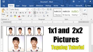 1x1 and 2x2 ID Pictures using Microsoft Word| Pantin Couple