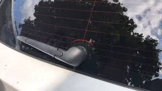 How to change a rear window wiper insert on a 2012 Lexus CT 200h