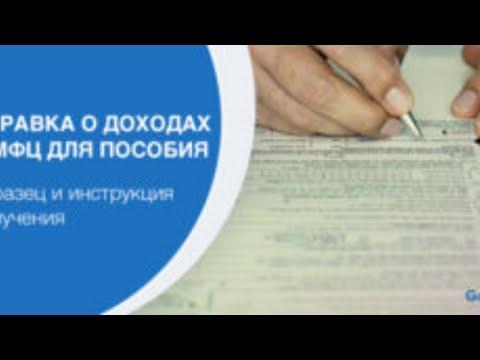 Образец справки о доходах в МФЦ на пособие для малоимущих