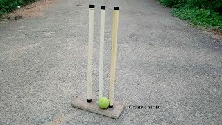 How To Make Stumps At Home - How I Made My Own Stumps - How To Make Cricket Stumps