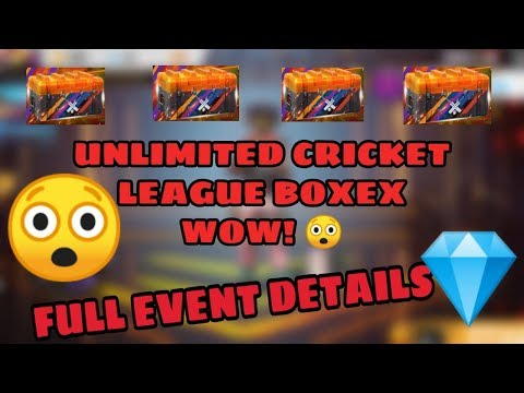 Get Unlimited Cricket League Box fully detailed/garena free fire