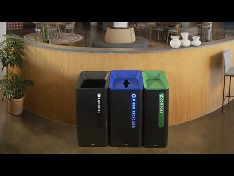 Product video for Sustain Landfill Container 15 Gal, Black