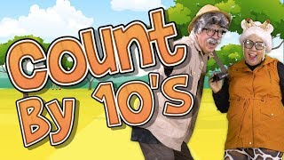 Count to 100 by 10s | Grandma and Grandpa Go on a Safari! | Jack Hartmann