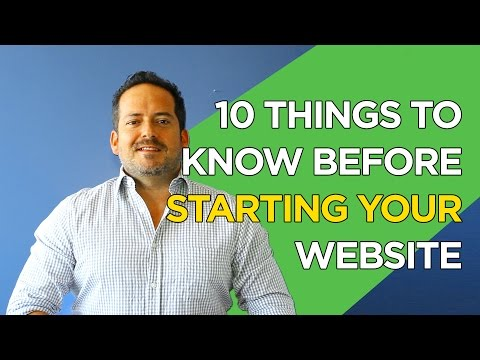 10 Things to Know Before Starting your Website