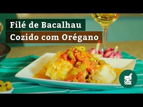 Filés de Bacalhau Cozidos com Orégano